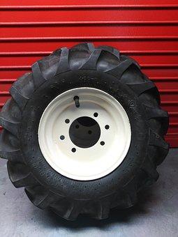 Wheel, Tire, Rubber, Vehicle, Red, Auto, Automobile