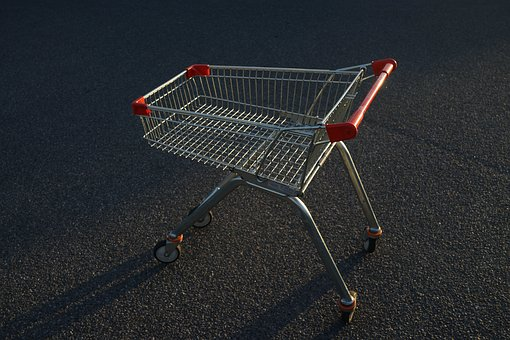 Shopping Cart, Empty, Supermarket, Business, Grocery