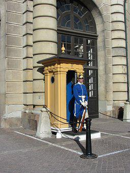 Stockholm, Sweden, Castle, Guard, Scandinavia