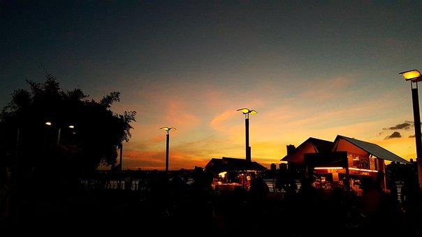 Sunset, Sky, Taipei, Taiwan, Clouds, Evening, Outdoor