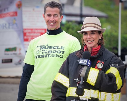 Television Reporter, Fireman, Event