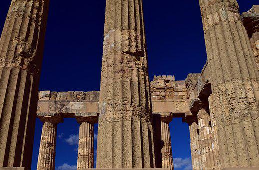 Temple, Greek, Ruin, Places Of Interest, Ancient Times