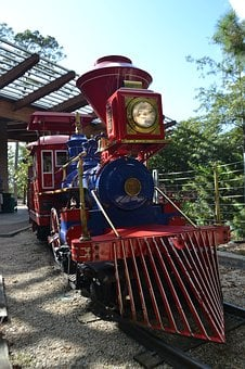 Herman Park, Train, Children, Kids, National Park, Park
