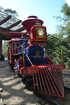 Herman Park, Train, Children, Kids, National Park, Park