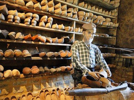Sabotier, Shoe, Museum, Wood, Decoration, Sculptors