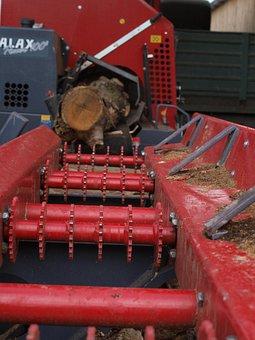 Log, Machine, Woodcutter, Farm