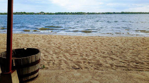 Beach, Lake, Worthington, Relaxation