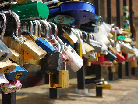 Padlock, Lock, Love, Travel, Secret, Symbol, Bridge
