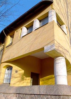 Building, Facade, Detail, Column, Wall, Windows