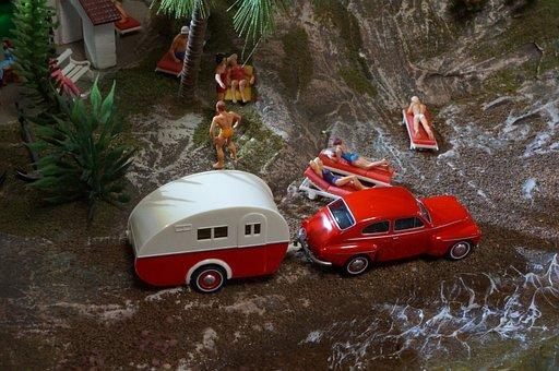Diorama, Model Train, Model Railway, Model Car, Figures