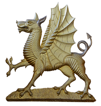 Dragon, Wing, Bronze, Mystical, Fairy Tales, Romantic