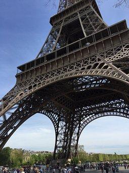 Paris, Eiffel Tower, Architecture, France, Tourism