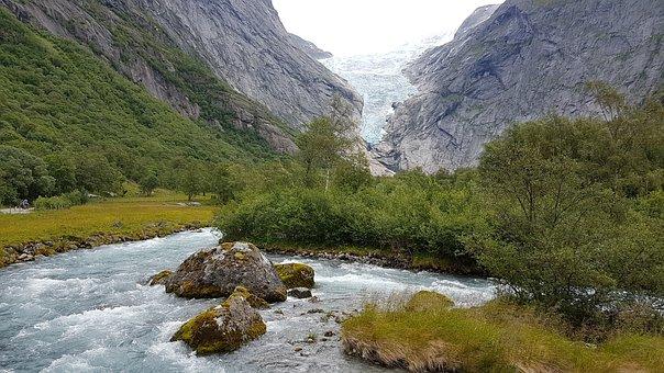 Norway, Glacier, Glacier Melt, Geiranger, Hellesylt