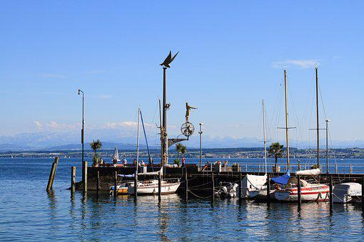 Lake Constance, Germany, Bavaria, Lake, Port, Holiday
