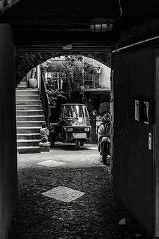 Piaggio Ape, Piaggio Scooter, Narrow Lane, Italy