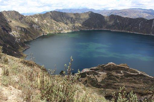 Quilotoa, Laguna, Volcano, Crater, Laguna Verde