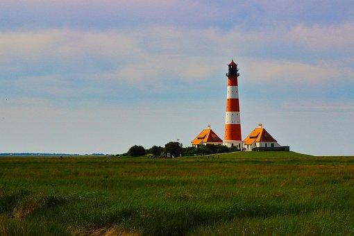 North Sea, Lighthouse, Watts, Freedom, Holiday
