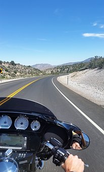 Motorcycle, Road, Yellow Line, Curve, Yellow, Line