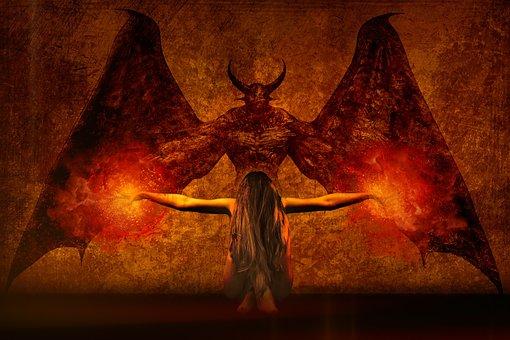 Dark Art, Daemon, The Witch, Fireball, Magic, Burn