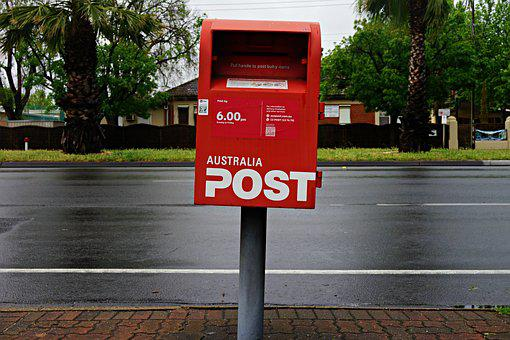 Post Box, Wet Road, Mail, Mailbox, Communication