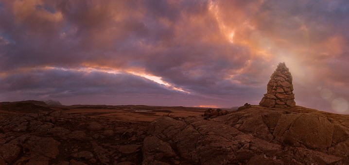 Sun, Mood, Pano, Morgenrot, Nature, Atmosphere, Clouds