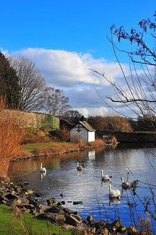 Duddingston, Edinburgh, Loch, Pond, Wa, Arthur's Seat