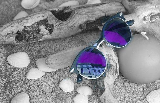 Sunglasses, Purple, Reflection, Fashion, Summer, Woman