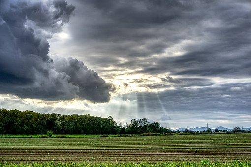 Sunbeam, Clouds, Drama, Sky, Sun, Rays, Mood, Mystical