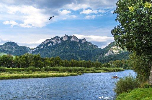 Mountains, River, Landscape, Torrent, Water