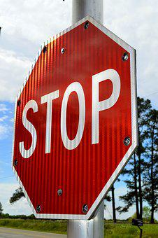 Stop, Sign, Alert, Red, Symbol, Warning, Road, Traffic