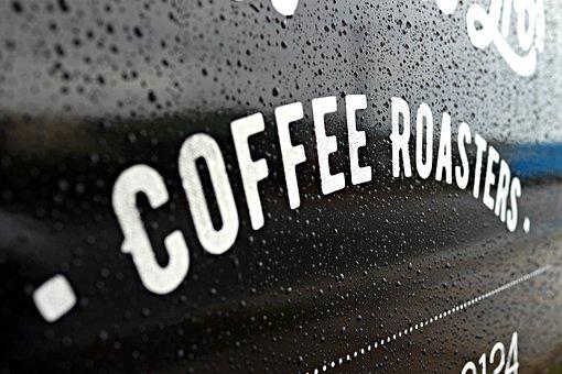Coffee Roaster, Signage, Shop, Cold, Rain Drops, Aroma