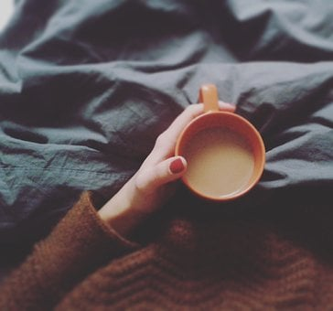 Coffee, Feel At Home, Morning, Bed, Winter, Snuggle