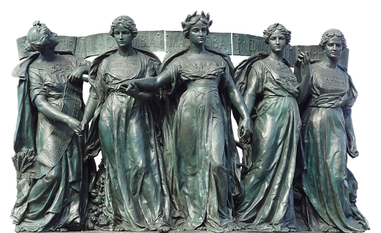 Queens, Princess, Ladies, Statue, Bronze, Middle Ages