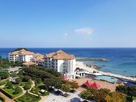 Recreation Area, Sea, Blue, Summer, Beach, Travel