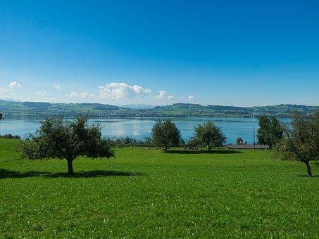 Sempachersee, Sursee, Switzerland, Lake, Sempach