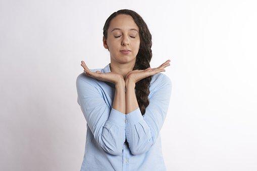 Thoughtful, Zen, Meditation, Woman, Calm, Office