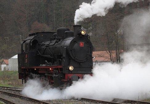 Steam Locomotive, Tank Locomotive, Museum, Train