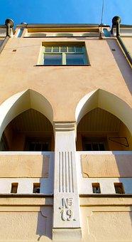 Building, Facade, Detail, Arc, Window, Up, Finnish
