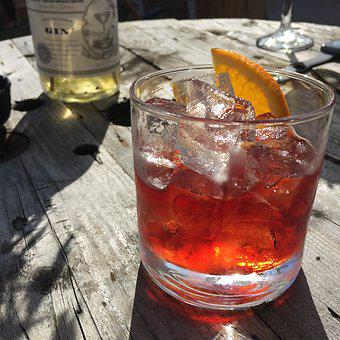 Negroni, Drink, Cocktail, Bar, Ice, Alcohol, Glass