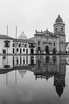 Colombia, Tunja, Boyacá, Church, Cathedral, Rain