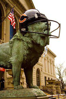Chicago Bears Art Museum, Chicago Bears Helmet, Statue