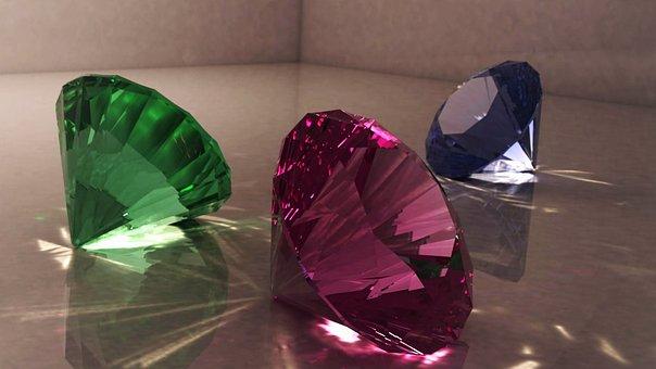Diamond, Jewelry, Multi Color, Gemstone