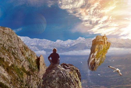 Photoshop, Surreal, Fantasy, Landscape, Background, Sky