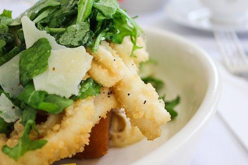 Food, Restaurant, Squid Salad, Deep-fried, Calamari