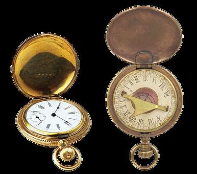 Vintage Watch, Pocket Watch, Gold Watch, Old, Unique