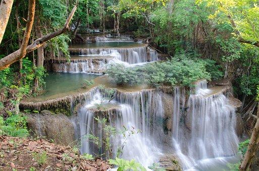 Waterfall, Huai Mae Khamin, Huay Mae Khamin Waterfall