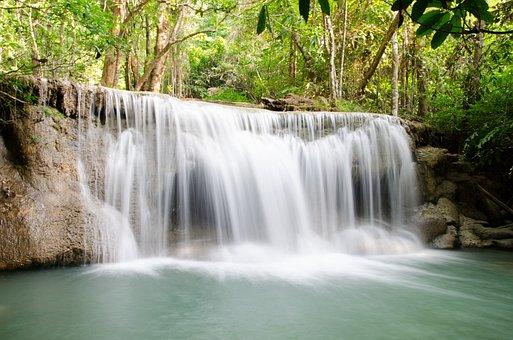 Waterfall, Huai Mae Khamin, Kanchanaburi