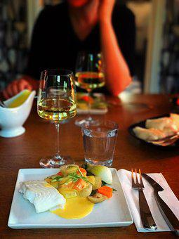 Fish, Dinner, Lemon, Mat, Plate, Colors, Table, Good