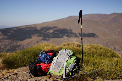 Backpack, Cane, Mountaineering, Equipment, Hiking