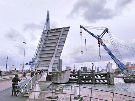 Bridge, Rotterdam, Mesh, Maasstad, New Mesh